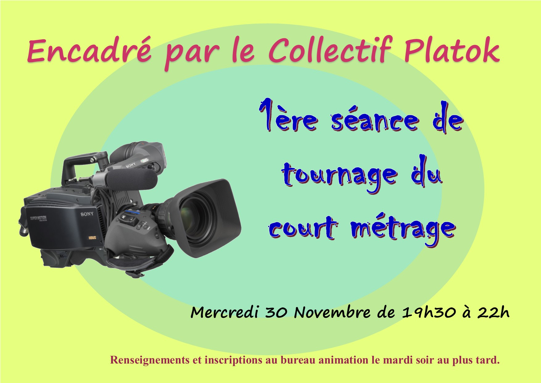 Tournage d 39 un court m trage foyer darwin h bergement for Alternance restauration collective